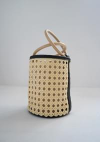 punching wood tote bag