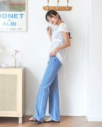 mood denim long pants (s, m, l)
