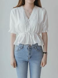 Race plain blouse