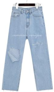 PABLO DAMAGE WIDE DENIM PANTS