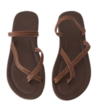 cross strap slipper