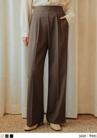 GROZNY SIDE ZIPPER WIDE SLACKS