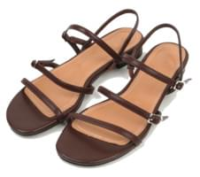 square toe cross strap sandal (3colors)