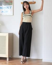 cemi color sleeveless knit