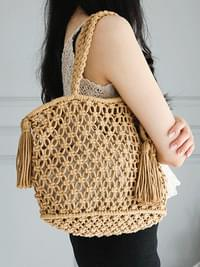 Wedge Knit Net Net Bag