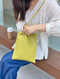 Clay stitch square bag_H