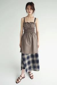 gradation check wrap skirts