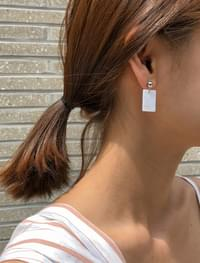 square drop sensual earring