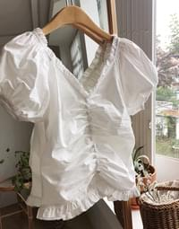 Bean Button Shearing Blouse