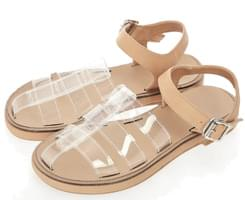 Trough transparent sandals