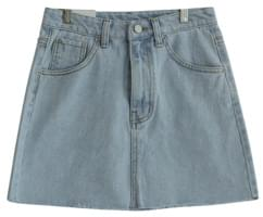 Cutting basic denim skirt