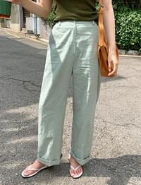 Nine linen wide pants_K (size : free)