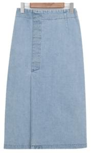 Vintage slit denim skirt_Y