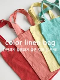 Color linen bag