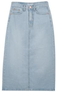 118 denim long skirt