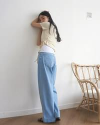 tin care denim pants (s, m, l)