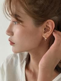2 color basic ring earring