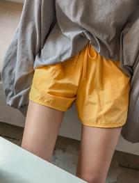 cozy banding short pants