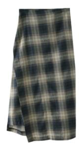 check pattern wrap skirt