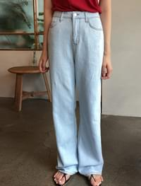 easy wide fit maxi denim pants