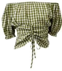 Noni check blouse