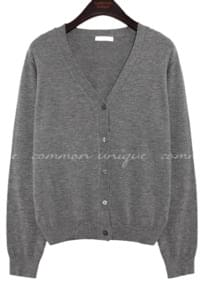 Y-Neck Knit Cardigan WITH CELEBRITY Kim Yoo-jung