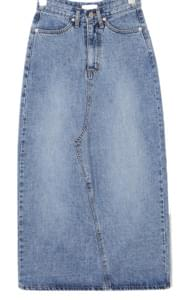kiti long denim skirt