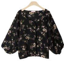 Ruby Flower Veneer Blouse