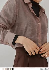 KINO SILKY SEETHROUGH BLOUSE