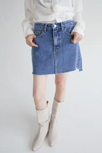 vintage cutting denim mini skirts