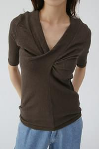 twist shape slim tee (3colors)