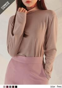 JELLY BASIC RAYON HALF NECK T