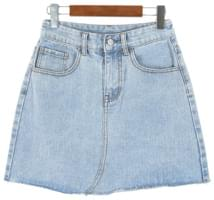 H-line denim short skirt