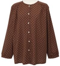 Rose shirring button blouse_J
