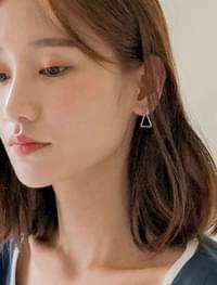 triangle point earring