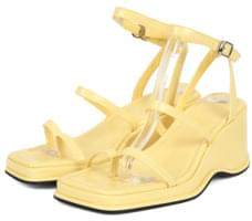 strap wedge heel sandals (3 color)