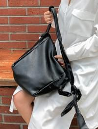 flexible square leather bag