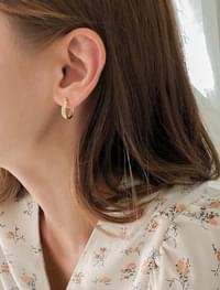 twist layered earring