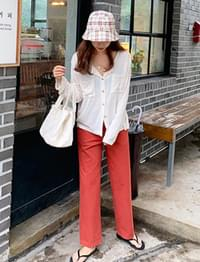 Carrot straight-fit pants_K