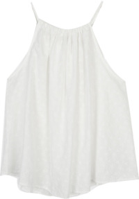 punching detail halter sleeveless (ivory)