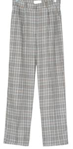 vintage check pintuck pants