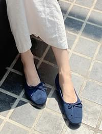Tweet ribbon flat shoes_C