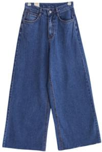 Thong wide denim pants
