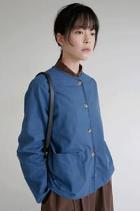 non colloar cotton jacket