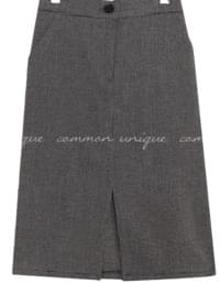 DOVER CHECK SLIT BANDING SKIRT