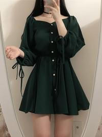 Order Runaway Discount ♥ Baby Shoulder Ribbon Dress