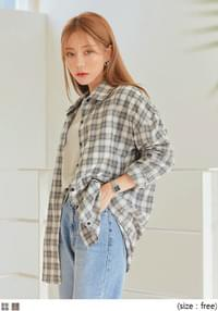 BLANKO BOXY UNBAL CHECK SHIRTS