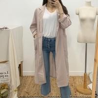 Albert linen pocket long coat
