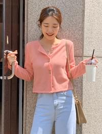 Peach two button cardigan_J