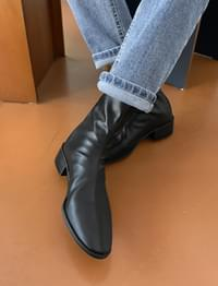 Ride low heel ankle boots_C (size : 225,230,235,240,245,250)